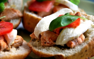 caprese chicken sandwich